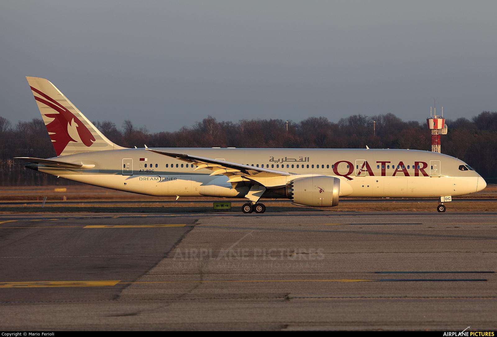 Qatar Airways A7-BDC aircraft at Milan - Malpensa