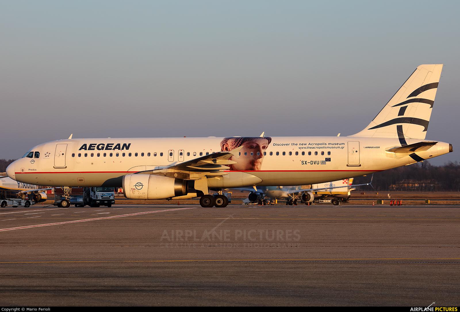 Aegean Airlines SX-DVU aircraft at Milan - Malpensa