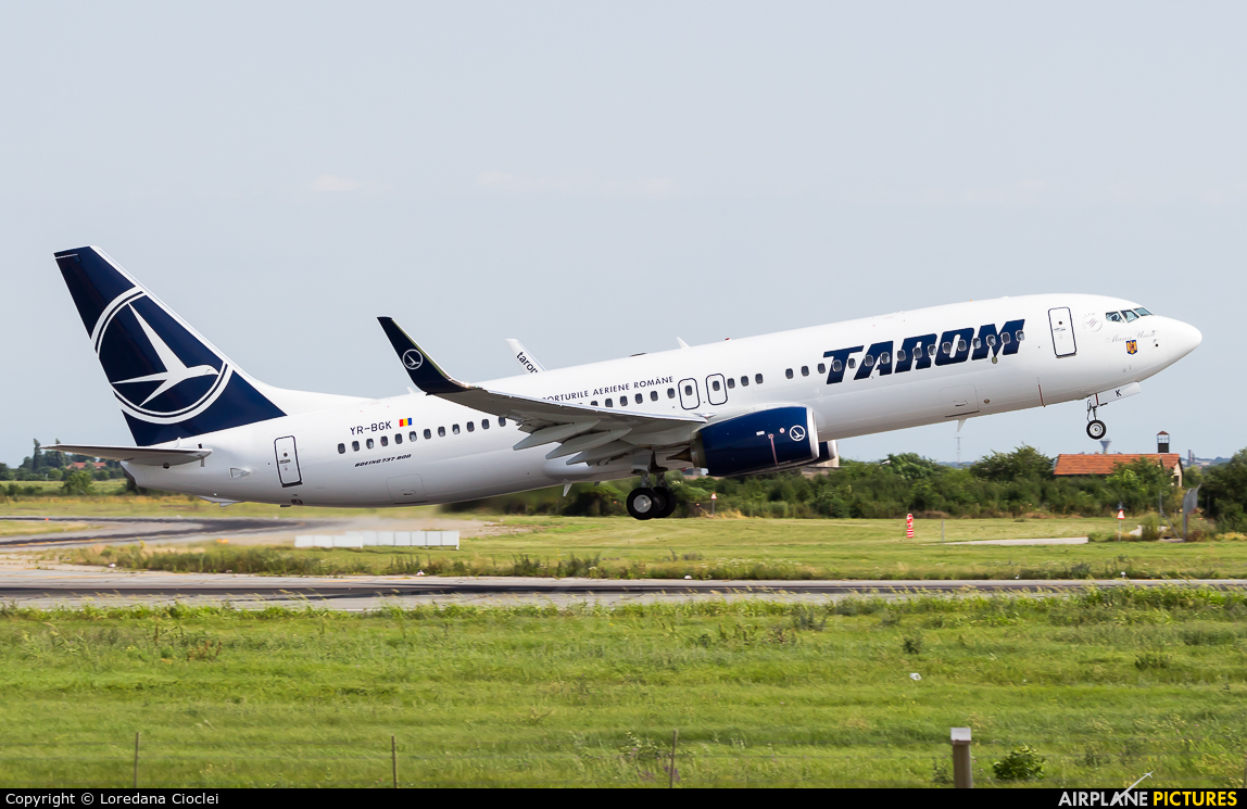 Tarom YR-BGK aircraft at Bucharest - Henri Coandă
