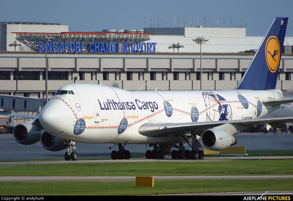 Lufthansa Cargo D-ABZF aircraft at Singapore - Changi