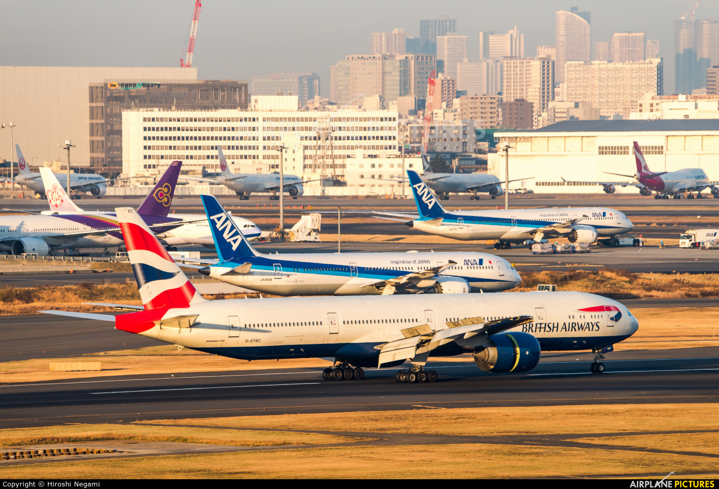 British Airways G-STBC aircraft at Tokyo - Haneda Intl