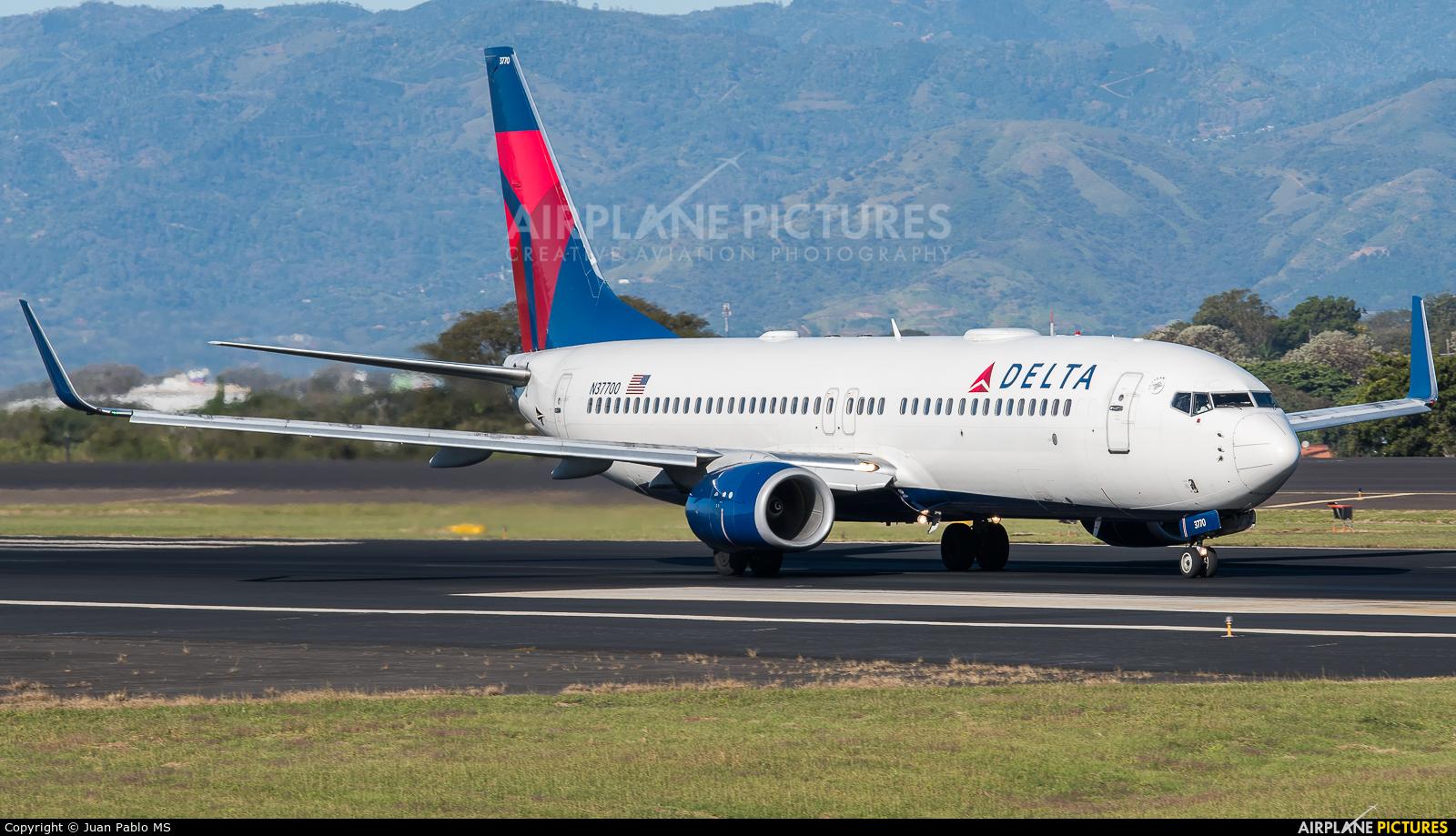Delta Air Lines N37700 aircraft at San Jose - Juan Santamaría Intl
