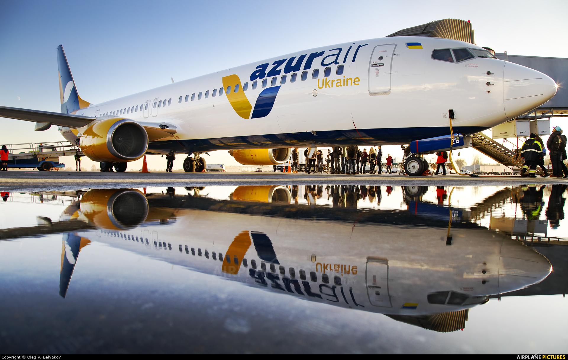 Azur Air Ukraine UR-AZB aircraft at Kiev - Borispol