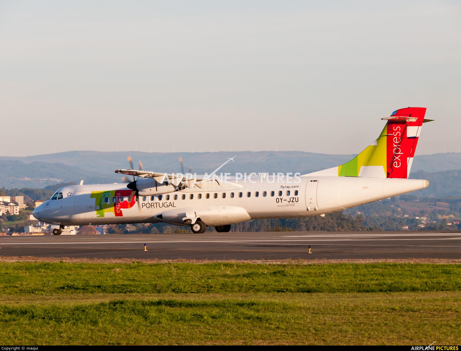 TAP Express OY-JZU aircraft at La Coruña