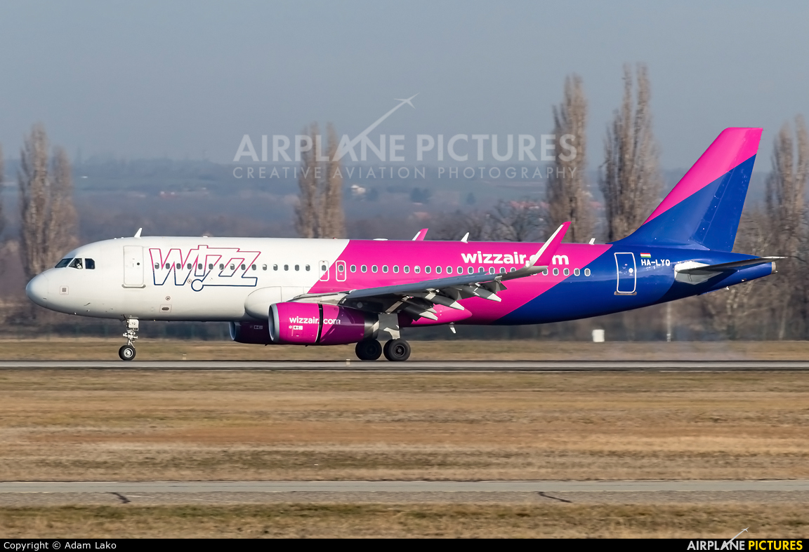 Wizz Air HA-LYQ aircraft at Budapest Ferenc Liszt International Airport