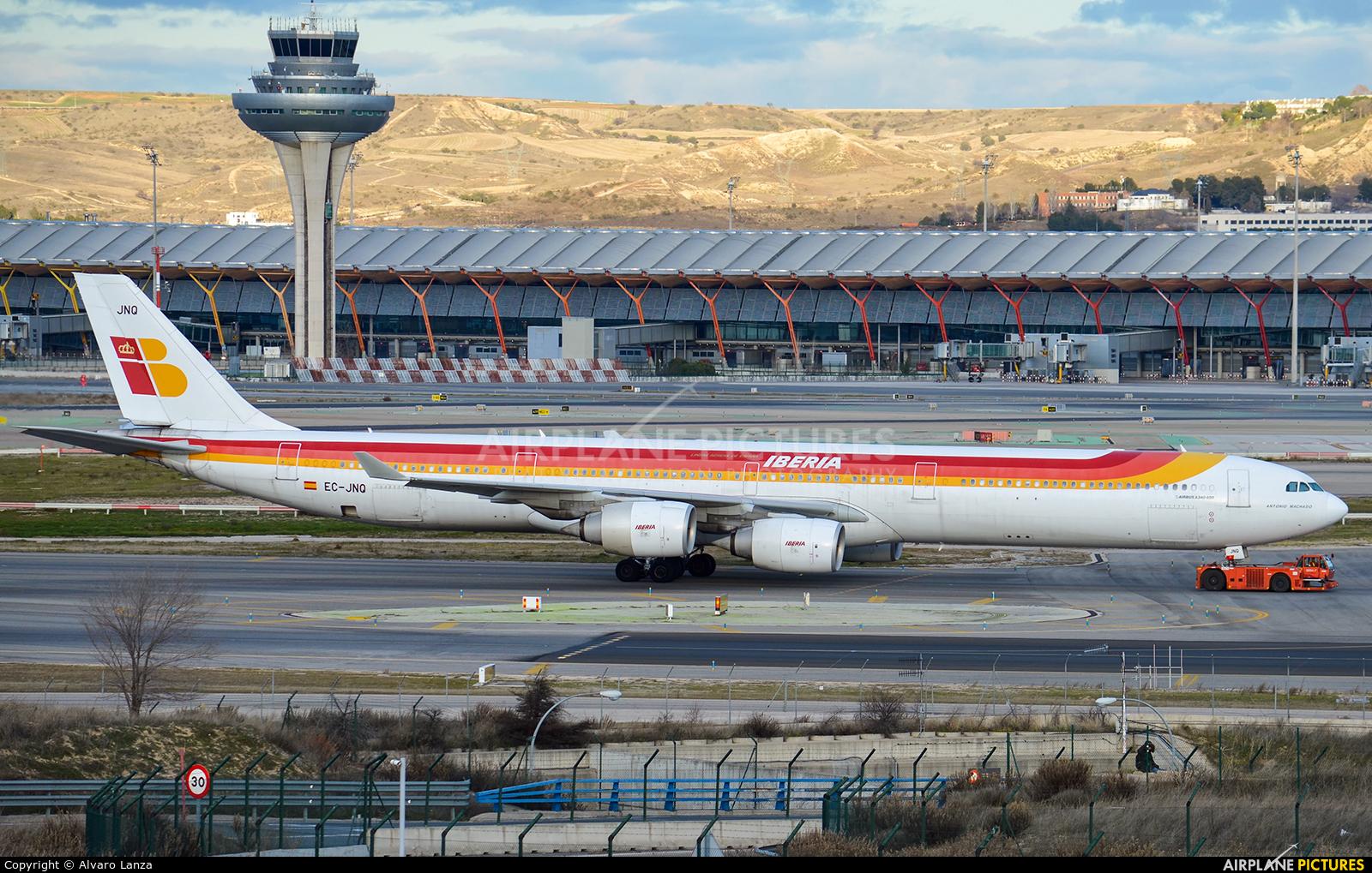 Iberia EC-JNQ aircraft at Madrid - Barajas