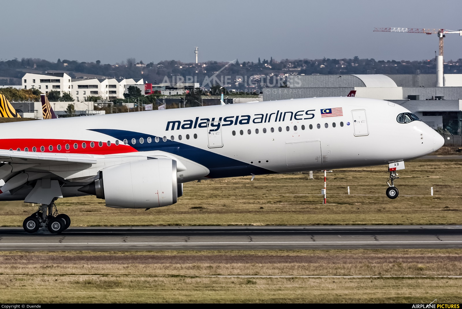 Malaysia Airlines F-WZFG aircraft at Toulouse - Blagnac