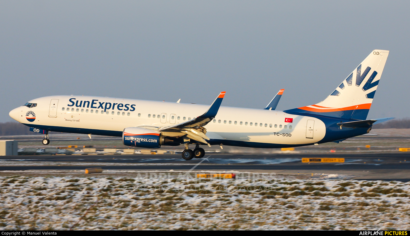 SunExpress TC-SOD aircraft at Vienna - Schwechat
