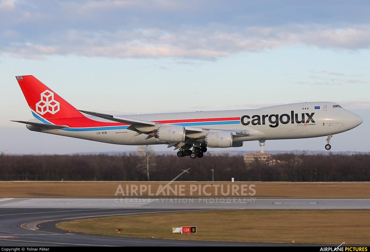 Cargolux LX-VCB aircraft at Budapest Ferenc Liszt International Airport