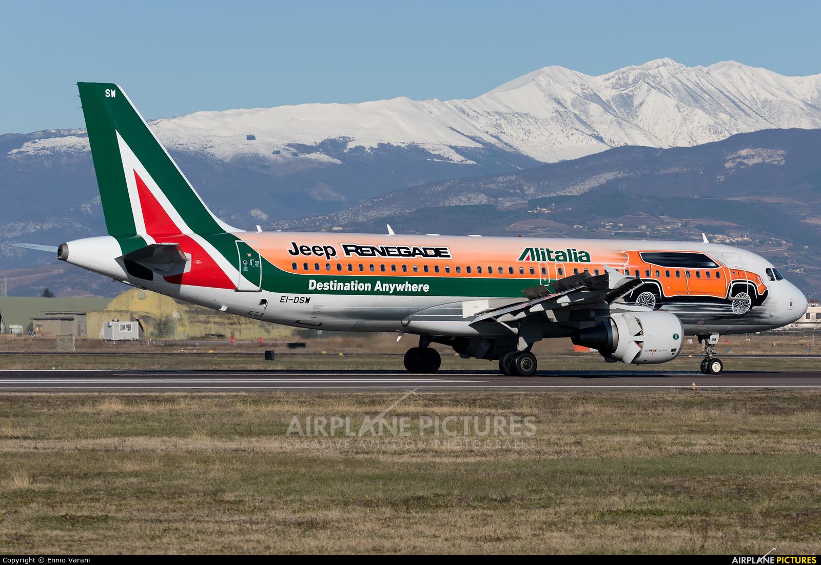 Alitalia EI-DSW aircraft at Verona - Villafranca