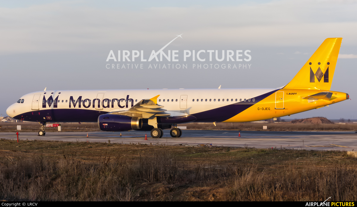 Monarch Airlines G-OJEG aircraft at Craiova