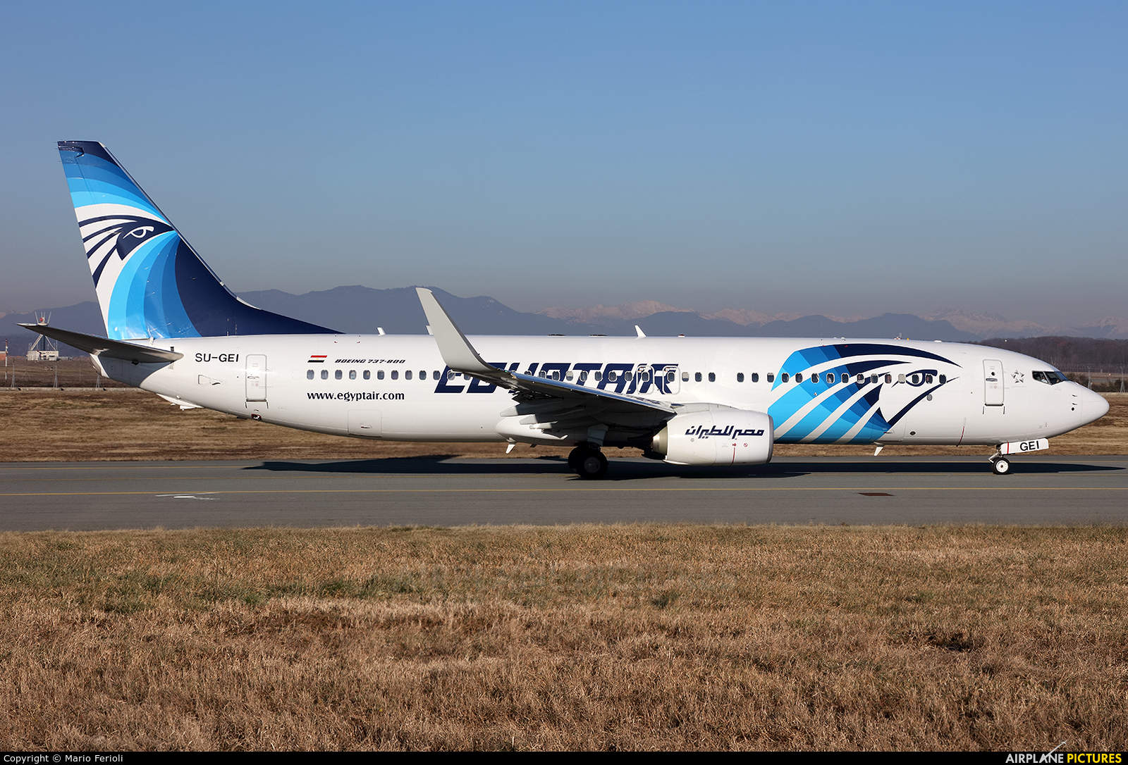 Egyptair SU-GEI aircraft at Milan - Malpensa