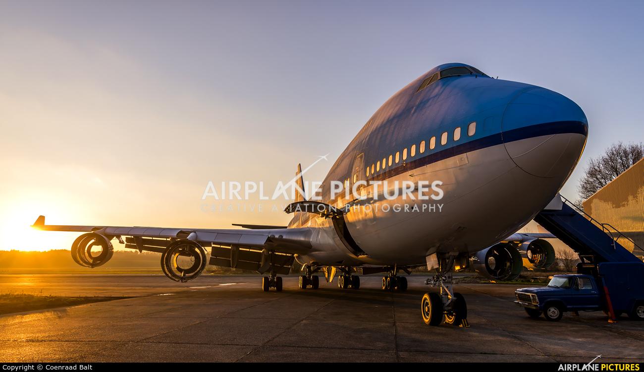 KLM PH-BFR aircraft at Enschede Airport Twente