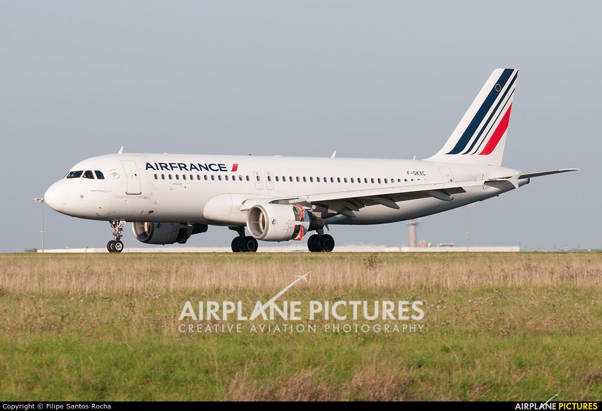 Air France F-GKXC aircraft at Paris - Charles de Gaulle