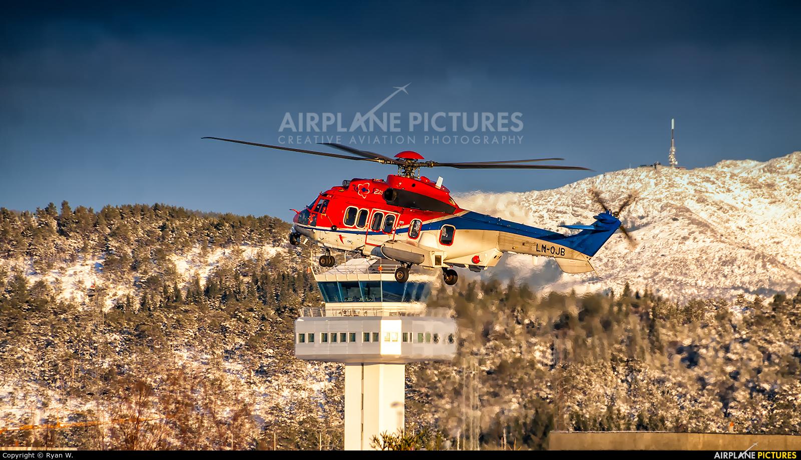 CHC Norway LN-OJB aircraft at Bergen - Flesland