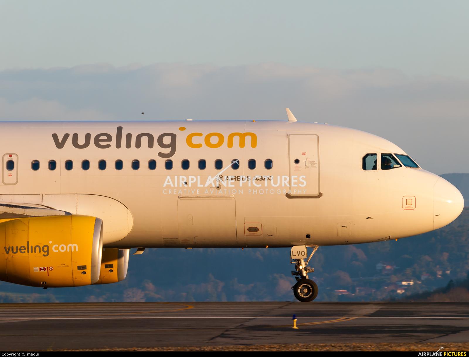 Vueling Airlines EC-LVO aircraft at La Coruña