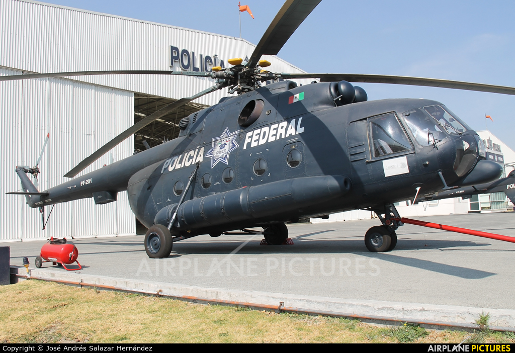 Mexico - Police PF-201 aircraft at Off Airport - Mexico