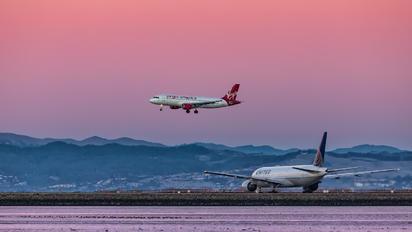 N842VA - Virgin America Airbus A320