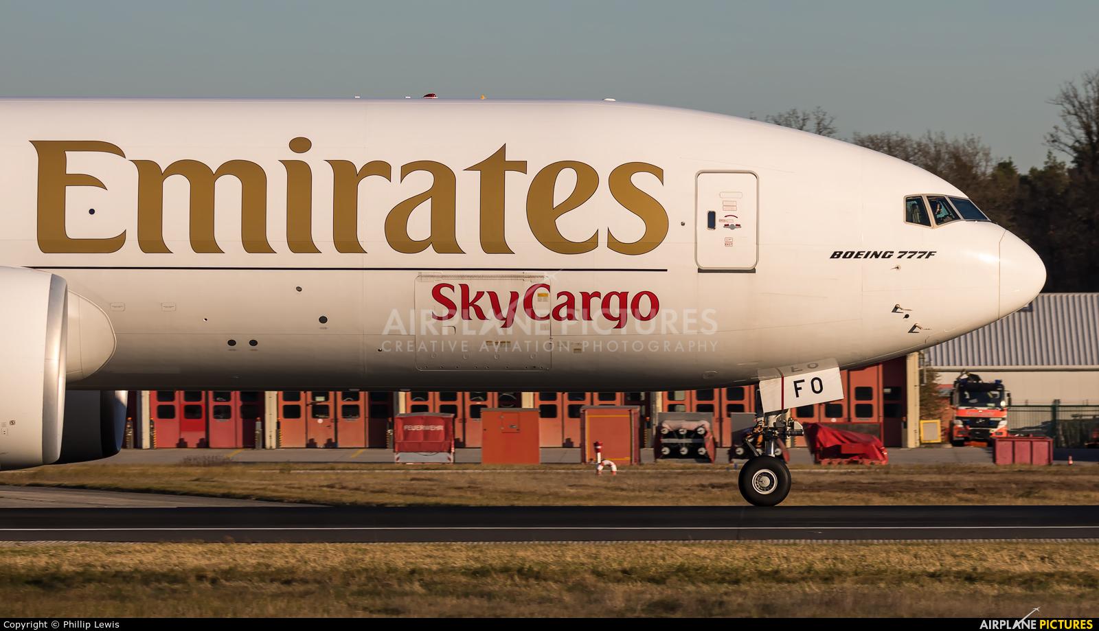 Emirates Sky Cargo A6-EFO aircraft at Frankfurt