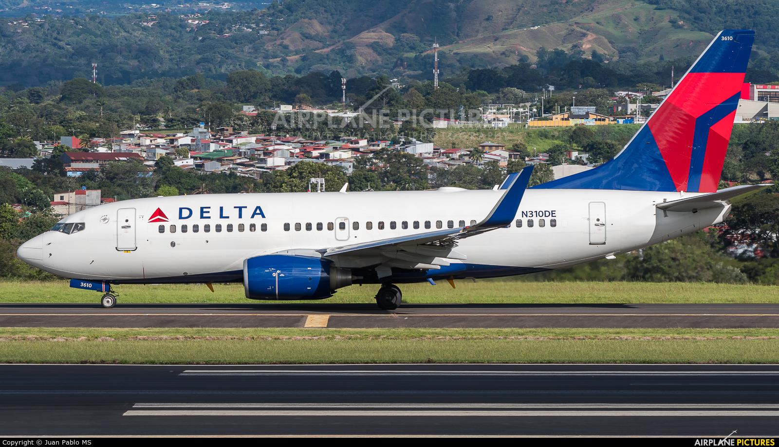 Delta Air Lines N310DE aircraft at San Jose - Juan Santamaría Intl