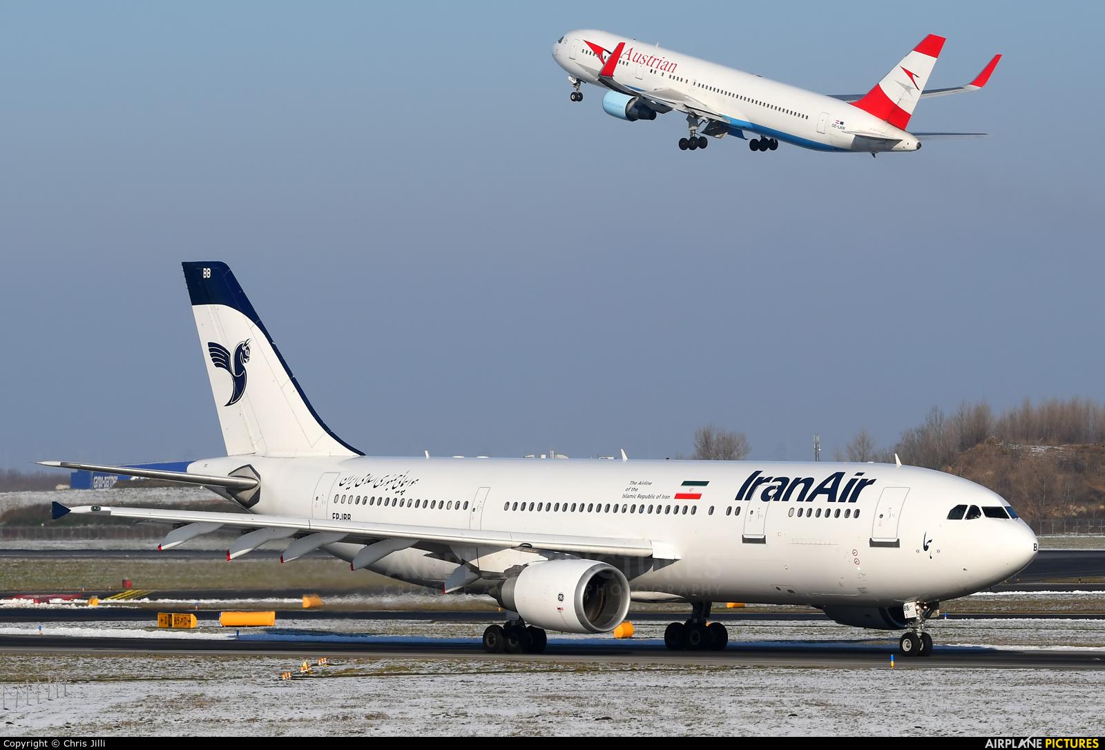 Iran Air EP-IBB aircraft at Vienna - Schwechat