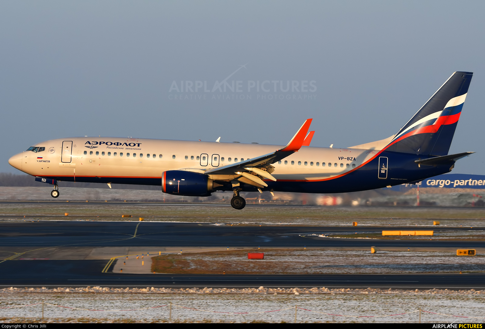 Aeroflot VP-BZA aircraft at Vienna - Schwechat