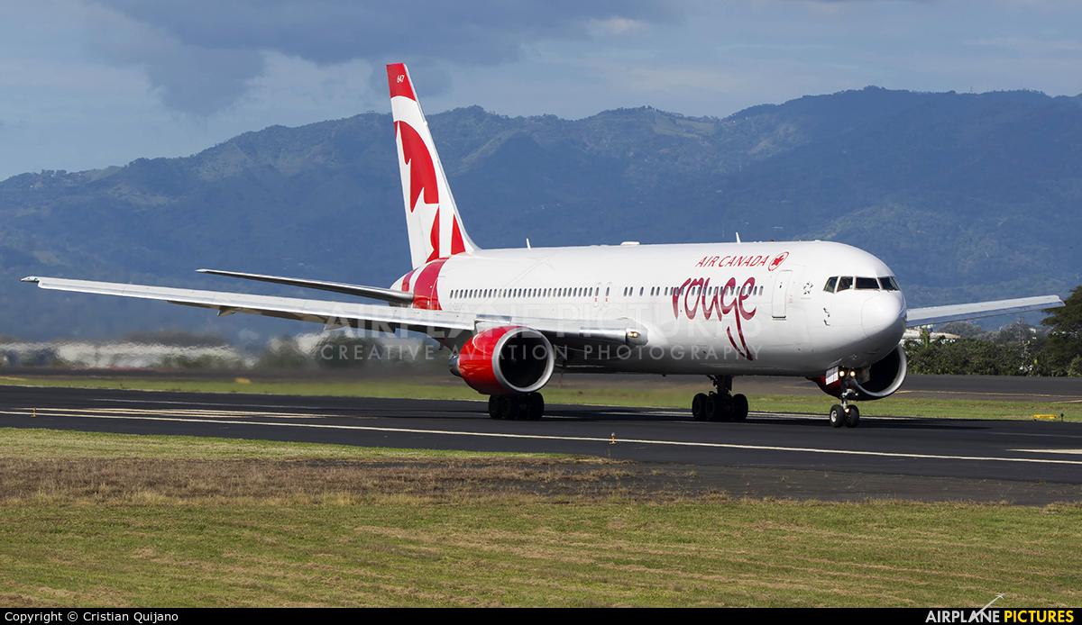 Air Canada Rouge C-GEOQ aircraft at San Jose - Juan Santamaría Intl
