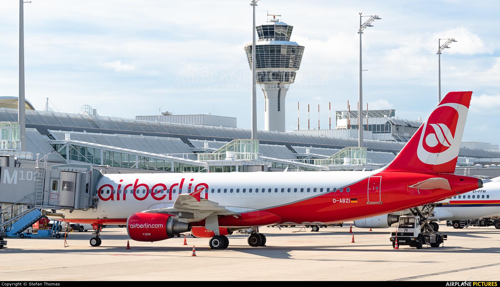 Air Berlin D-ABZI aircraft at Munich