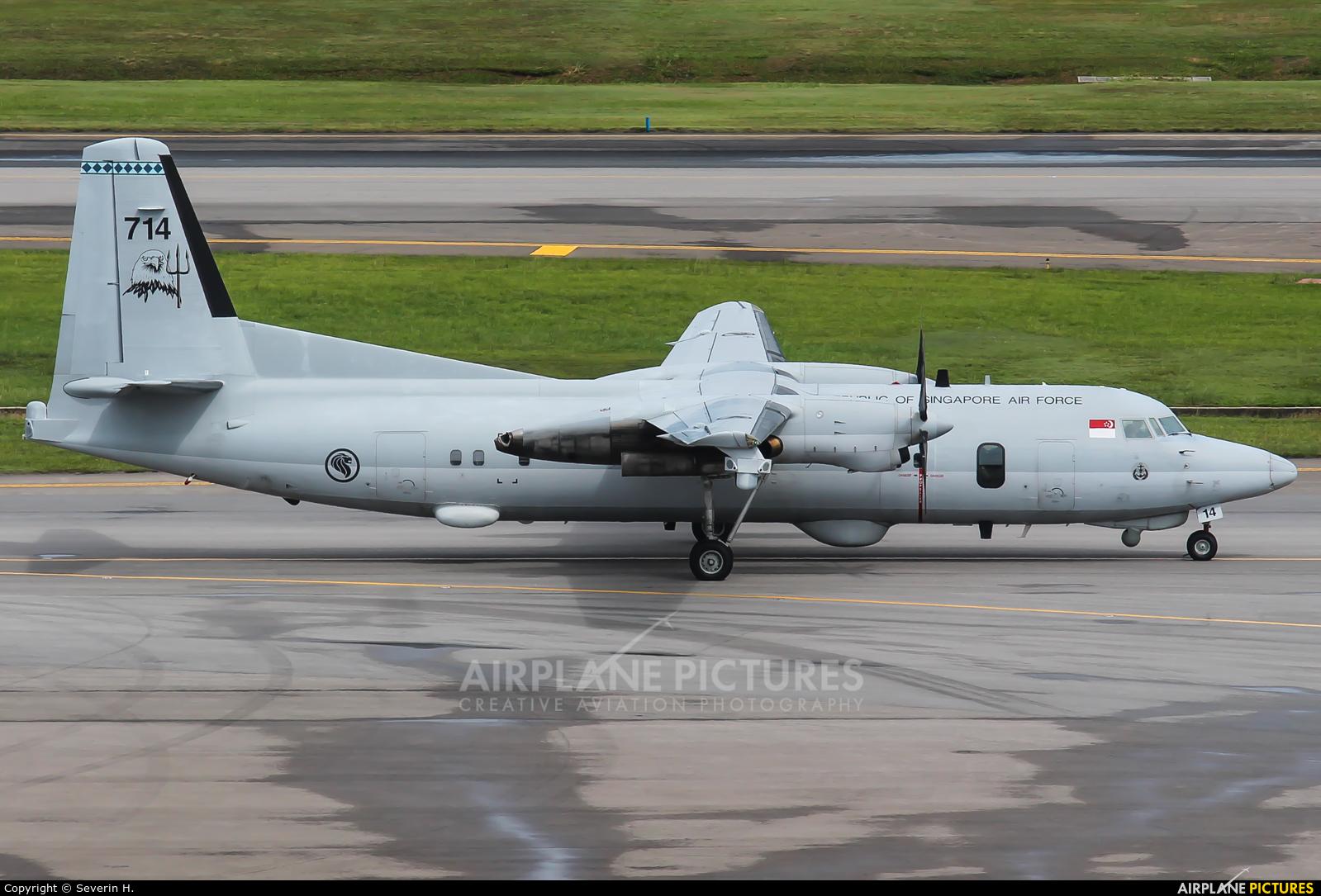 Singapore - Air Force 714 aircraft at Singapore - Changi
