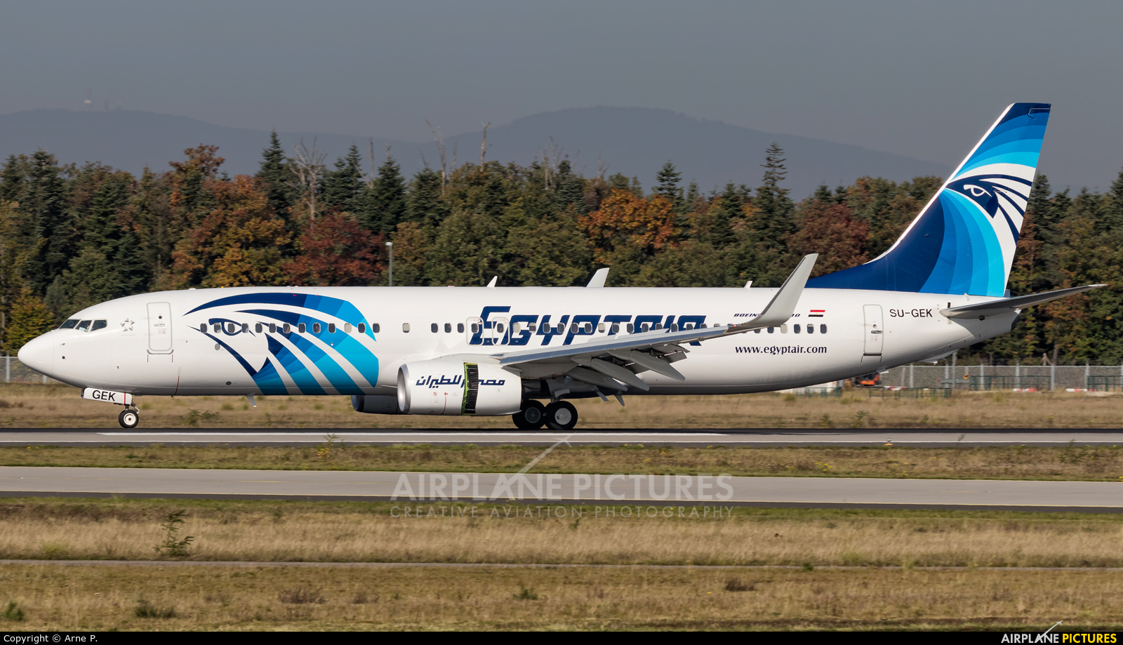 Egyptair SU-GEK aircraft at Frankfurt
