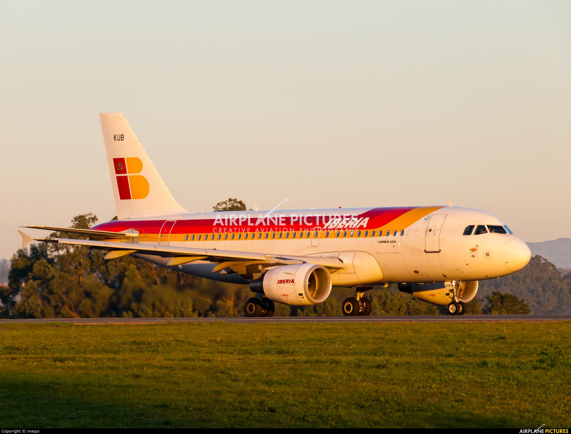 Iberia EC-KUB aircraft at La Coruña