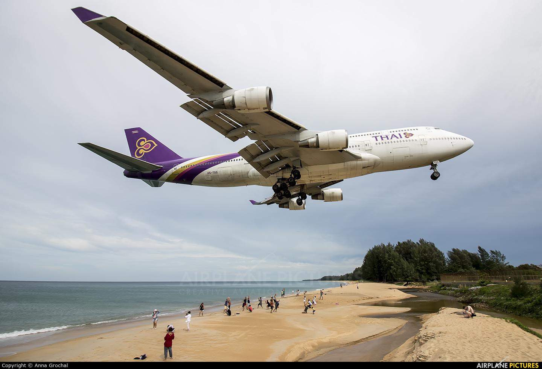 Thai Airways HS-TGG aircraft at Phuket