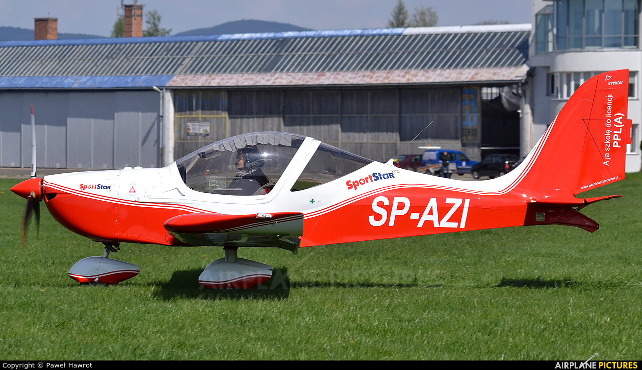 Aeroklub Ziemi Jarosławskiej SP-AZI aircraft at Krosno