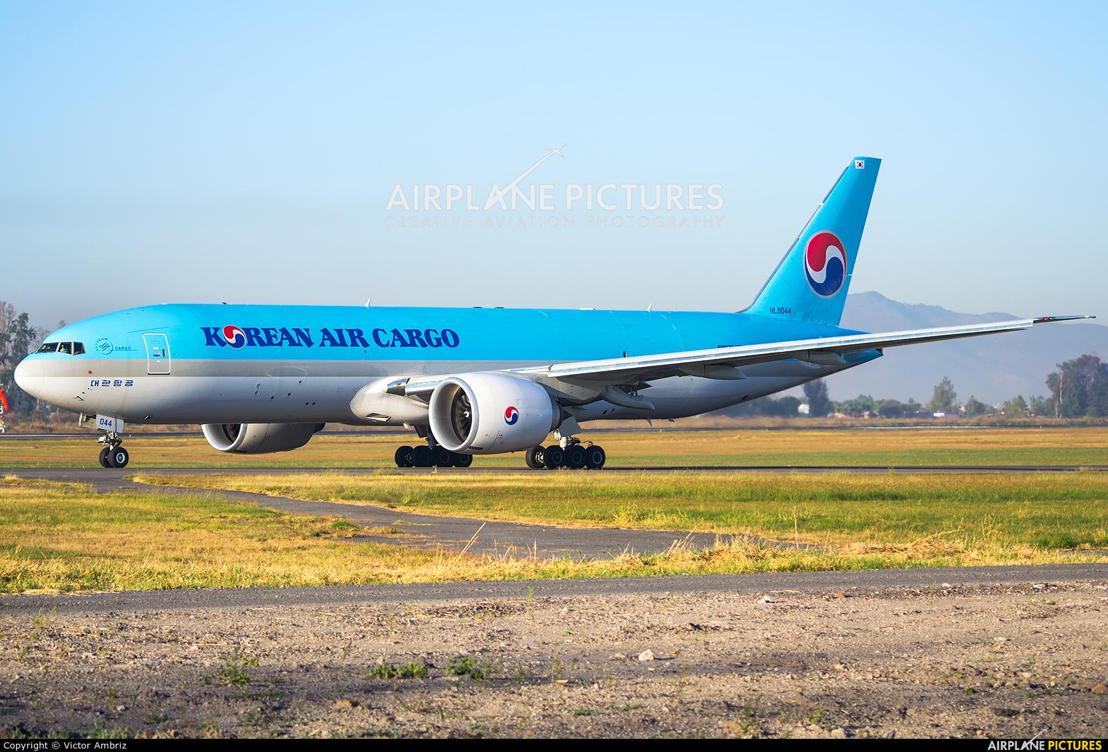 Korean Air Cargo HL8044 aircraft at Miguel Hidalgo y Costilla Intl