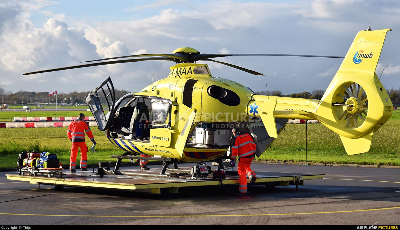 ANWB Medical Air Assistance PH-MAA aircraft at Rotterdam