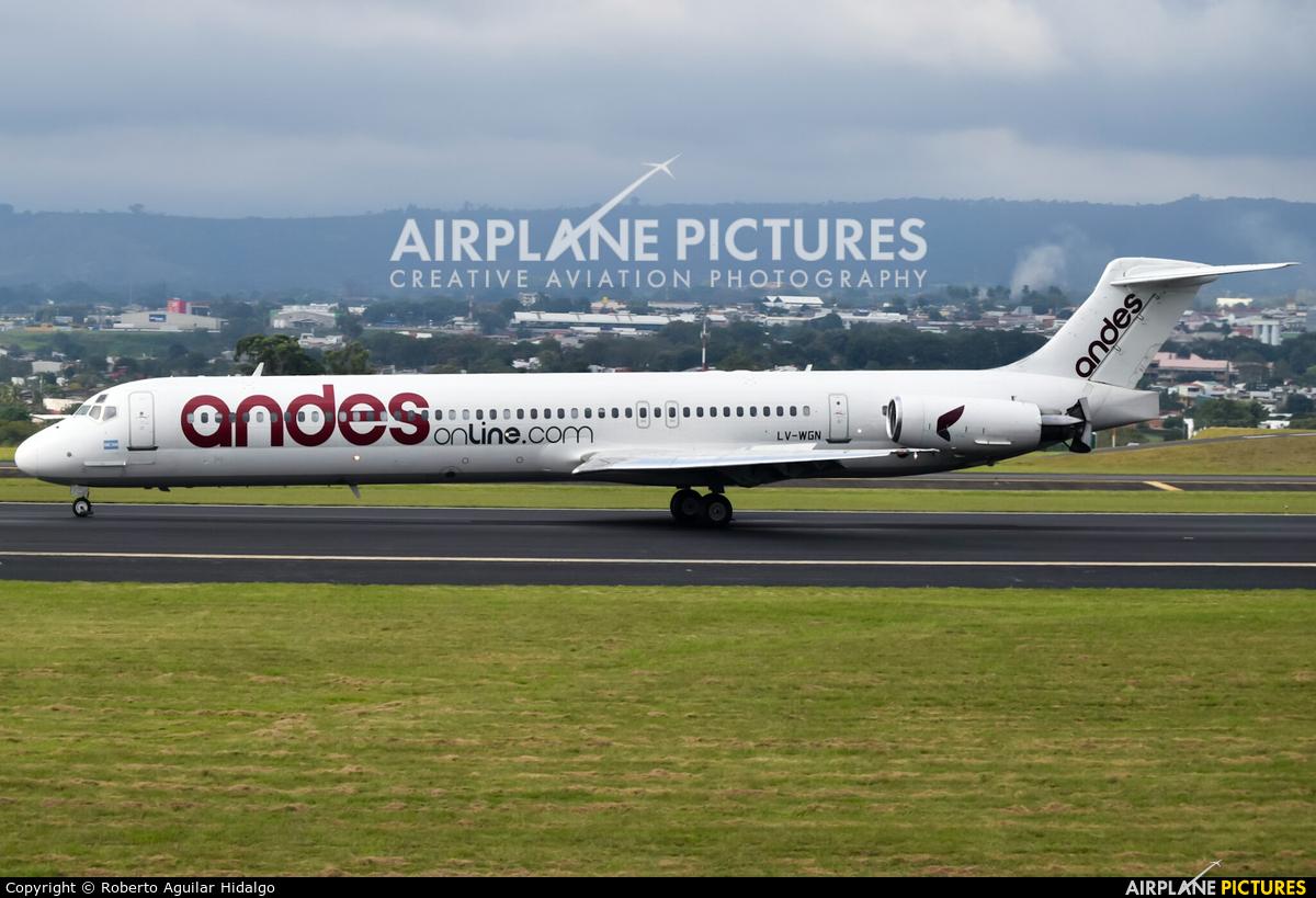 Andes Lineas Aereas  LV-WGN aircraft at San Jose - Juan Santamaría Intl