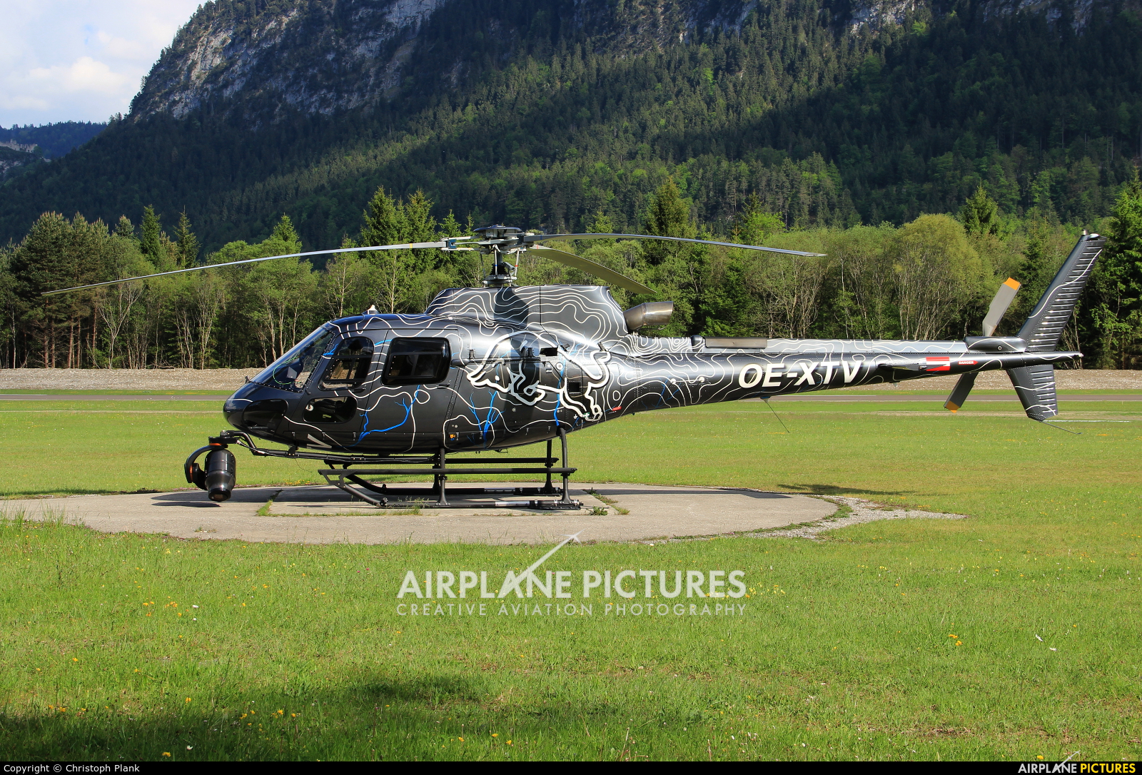 The Flying Bulls OE-XTV aircraft at Reutte