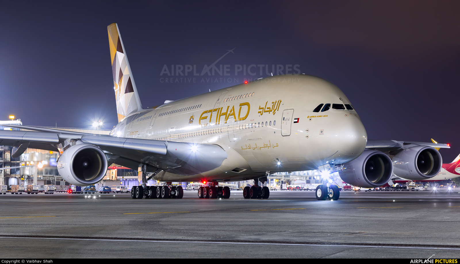 Etihad Airways A6-APC aircraft at Mumbai - Chhatrapati Shivaji Intl