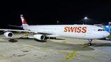 Rare visit of SWISS A340 to Prague