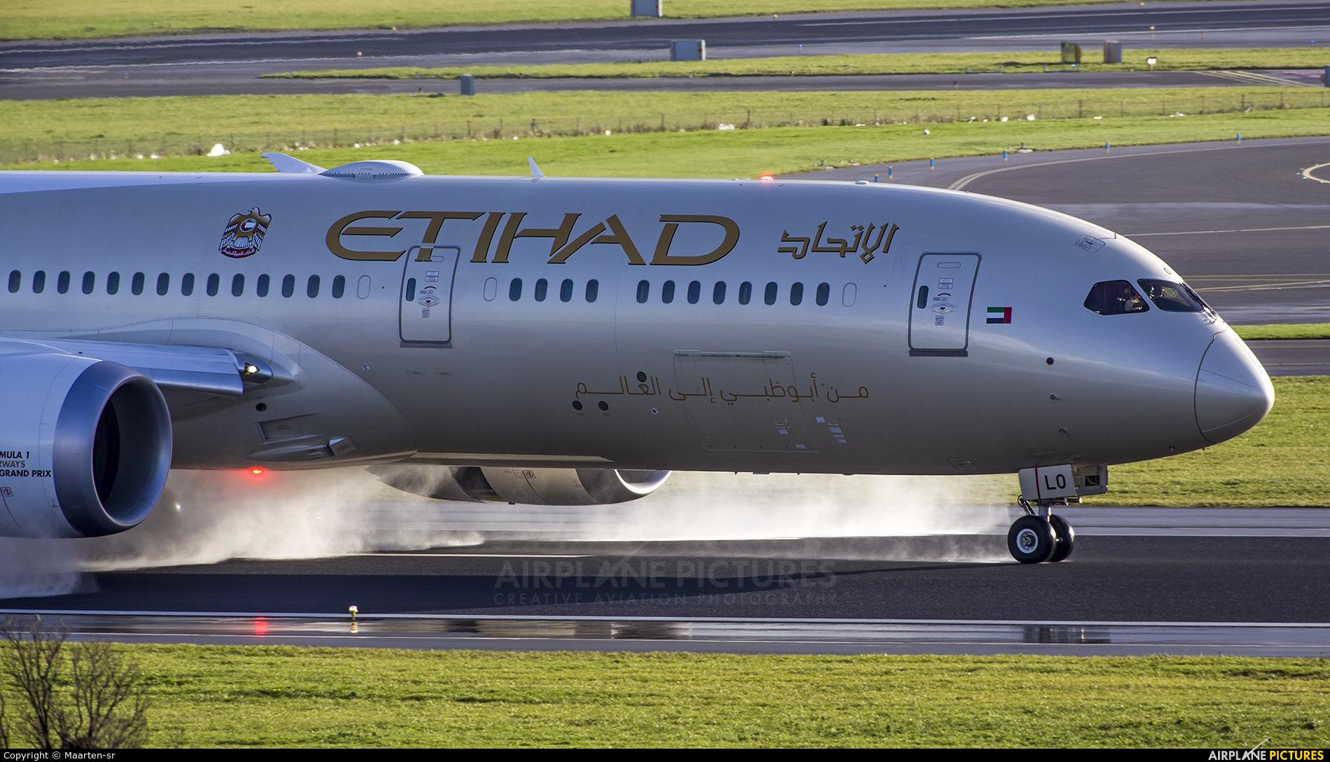 Etihad Airways A6-BLO aircraft at Amsterdam - Schiphol