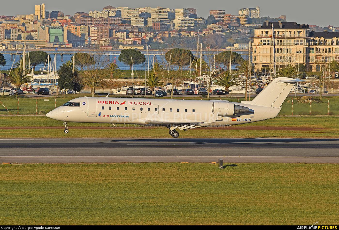 Air Nostrum - Iberia Regional EC-HEK aircraft at Santander