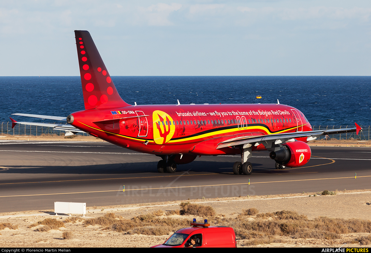 Brussels Airlines OO-SNA aircraft at Lanzarote - Arrecife