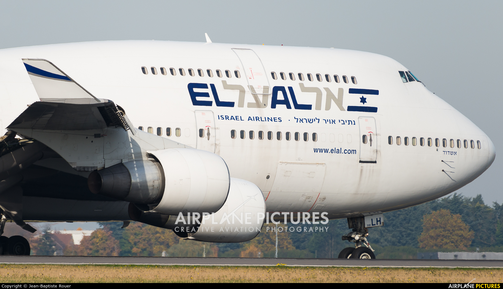 El Al Israel Airlines 4X-ELH aircraft at Paris - Charles de Gaulle