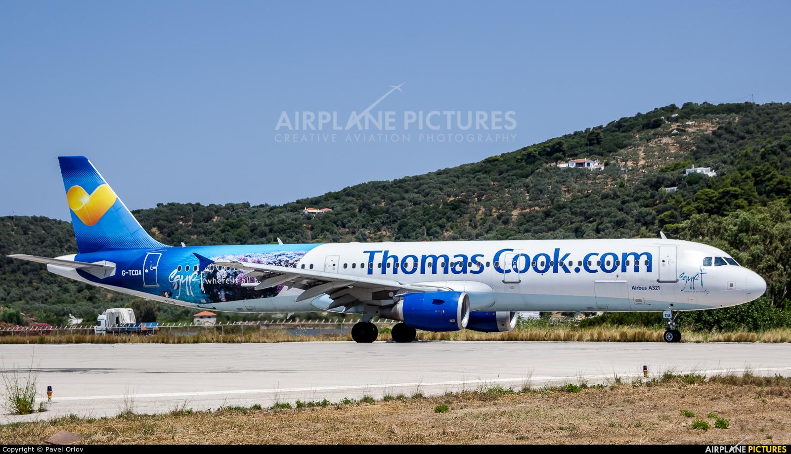 Thomas Cook G-TCDA aircraft at Skiathos