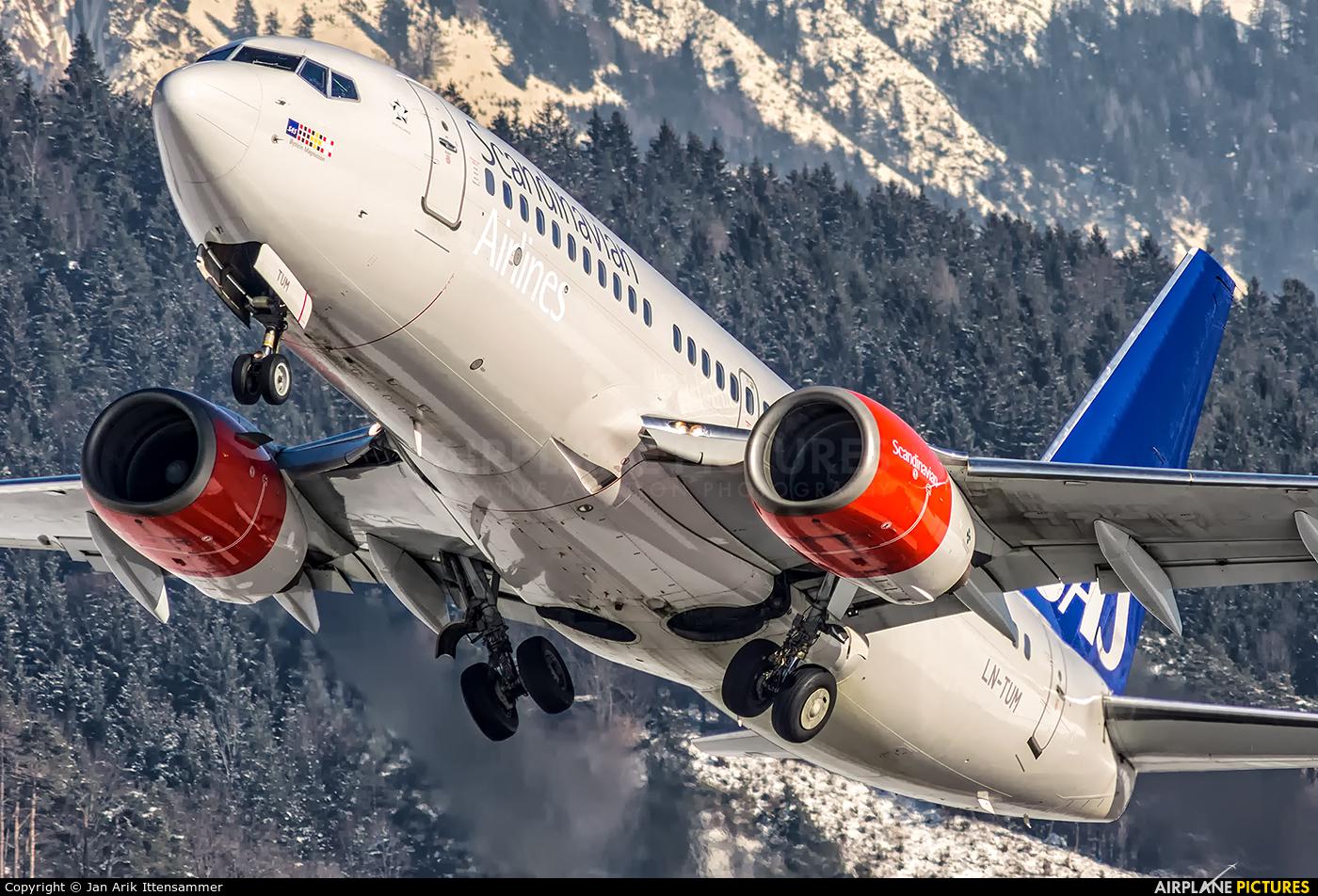 SAS - Scandinavian Airlines LN-TUM aircraft at Innsbruck