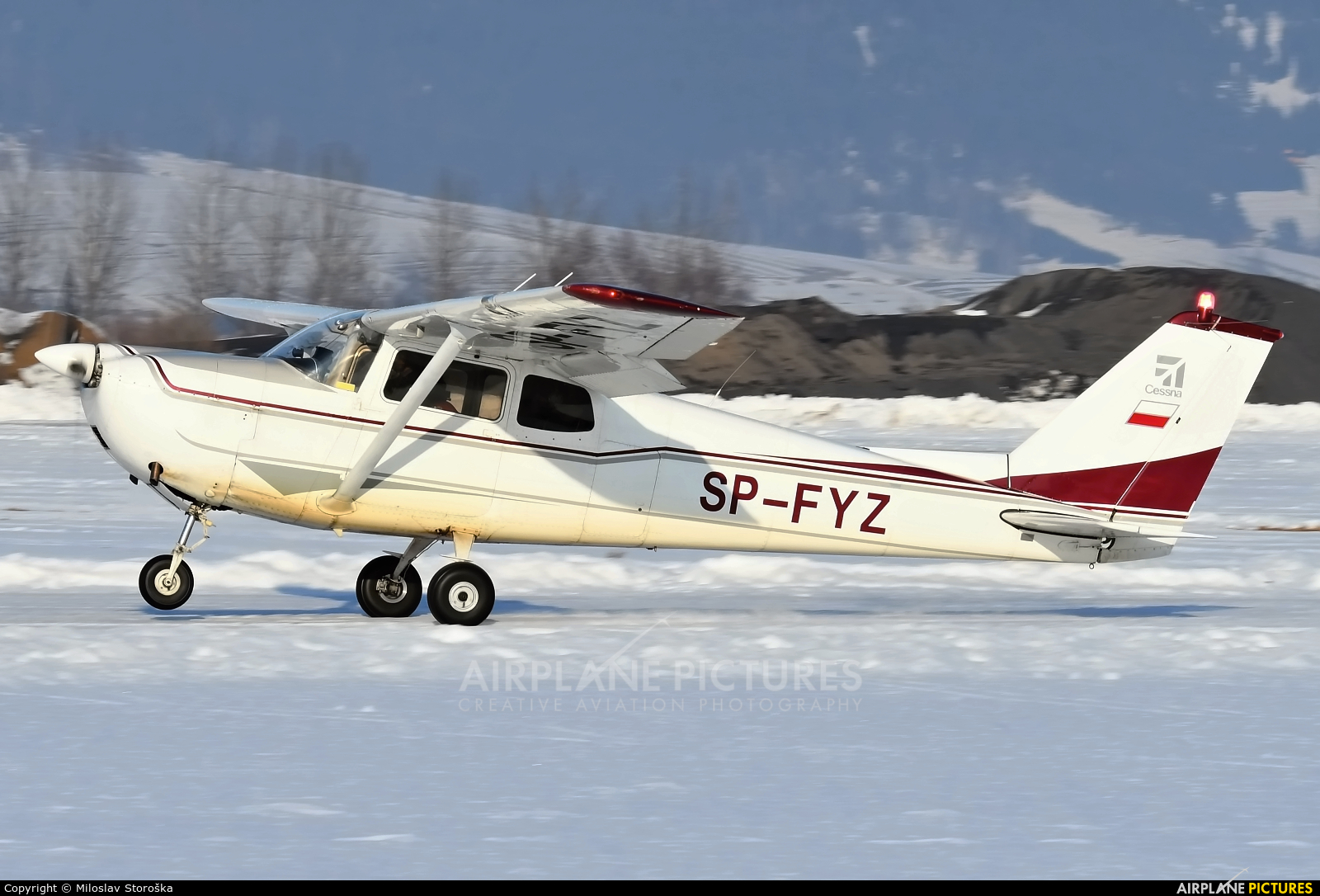 Private SP-FYZ aircraft at Nowy Targ
