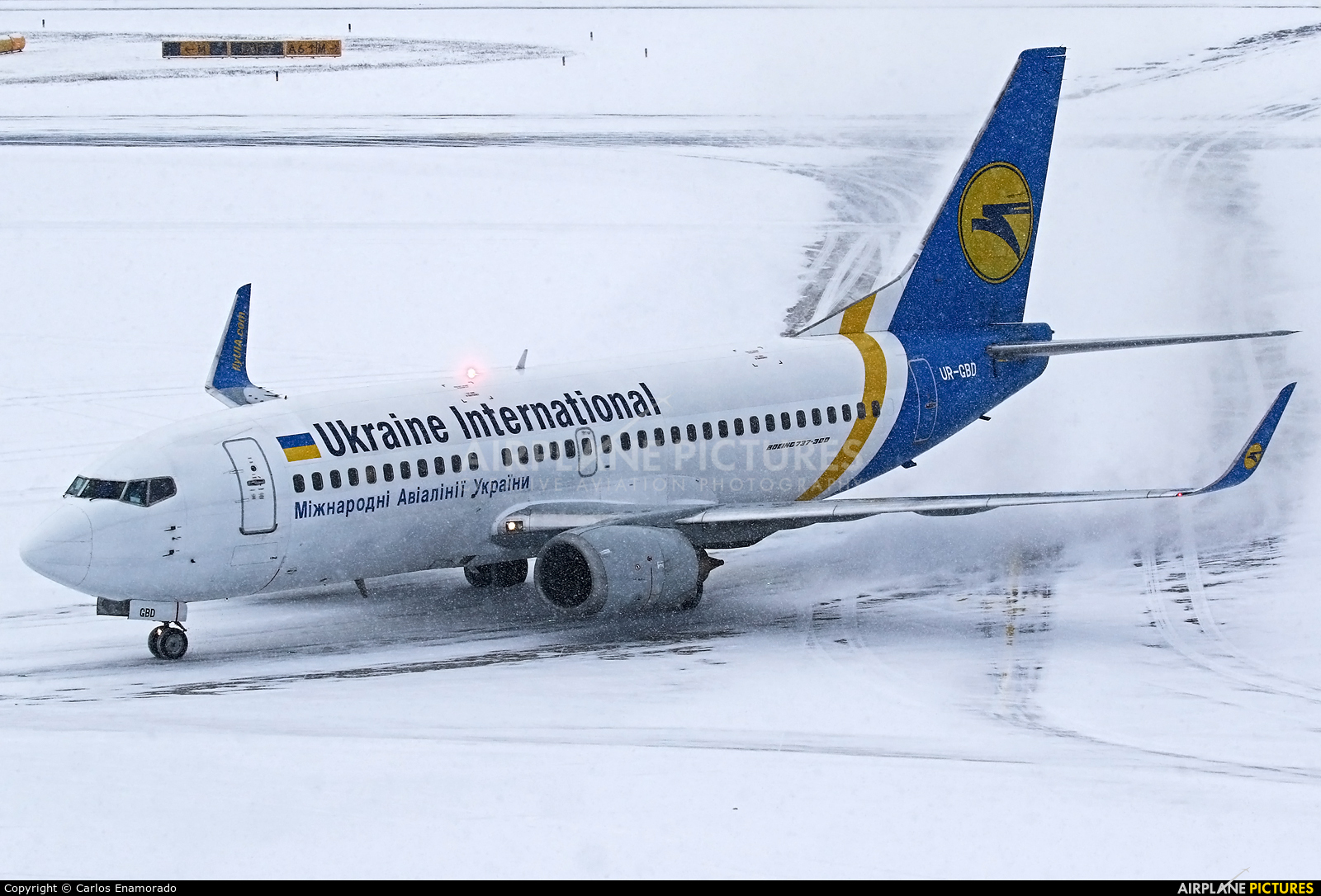 Ukraine International Airlines UR-GBD aircraft at Vienna - Schwechat