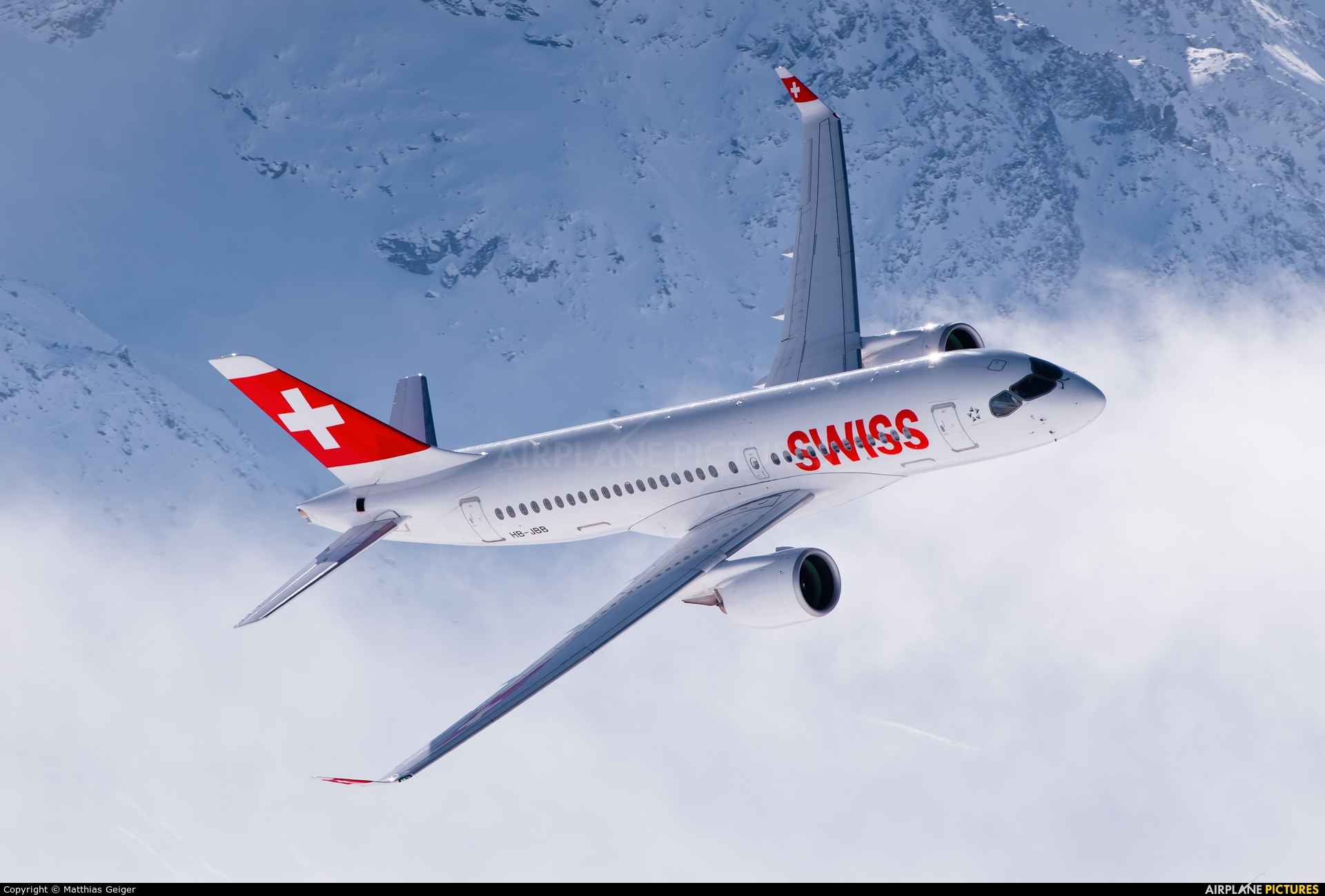 Swiss HB-JBB aircraft at Off Airport - Swiss Alps