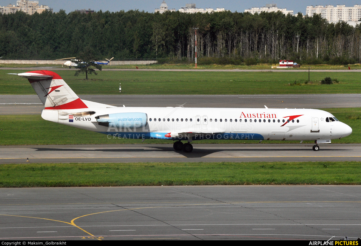 Austrian Airlines/Arrows/Tyrolean OE-LVD aircraft at Omsk Tsentralny