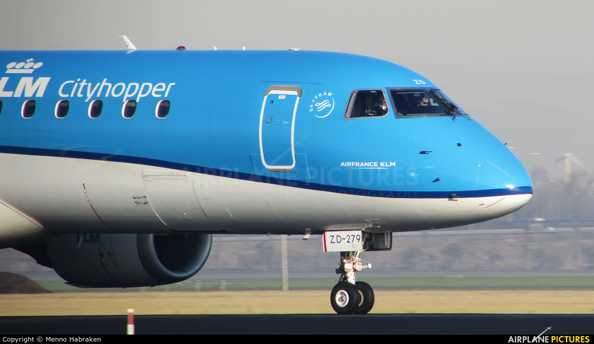KLM Cityhopper PH-EZD aircraft at Amsterdam - Schiphol